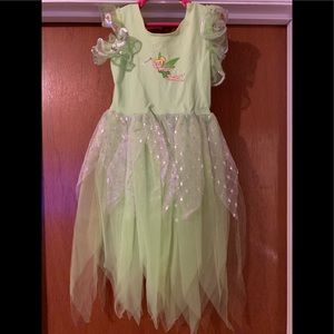 TINKERBELL DISNEY DRESS UP COSTUME & Tiara 4-6 GRL